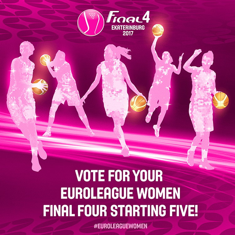 EuroLeague women social media design | EuroLeague Final Four voting