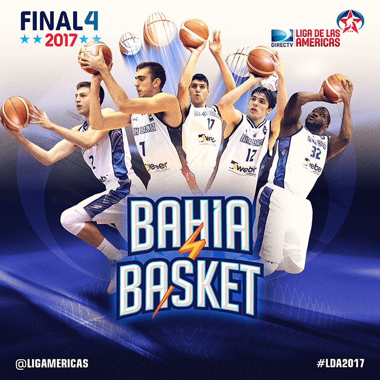Liga de las Américas social media design | LDA Final Four announcement - Bahia Basket