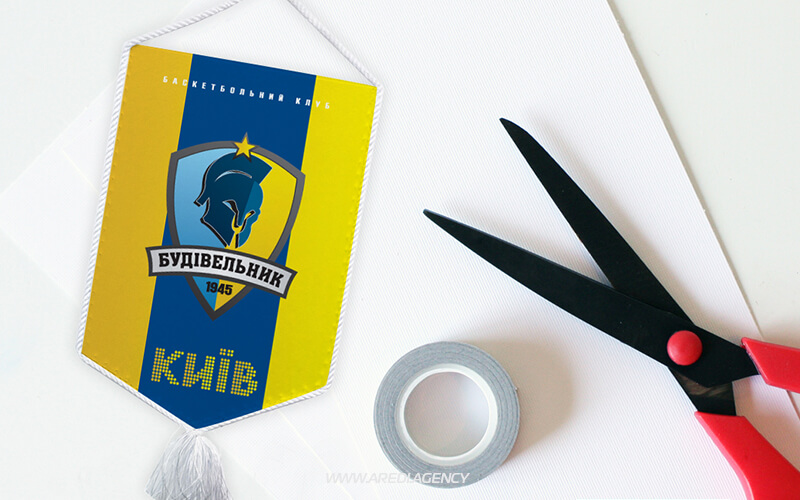 "Вымпел баскетбольного клуба ""Будивельник"" 2012-2013 