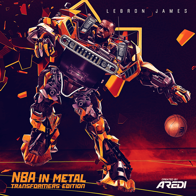 NBA in metal. Transformers edition. Lebron James