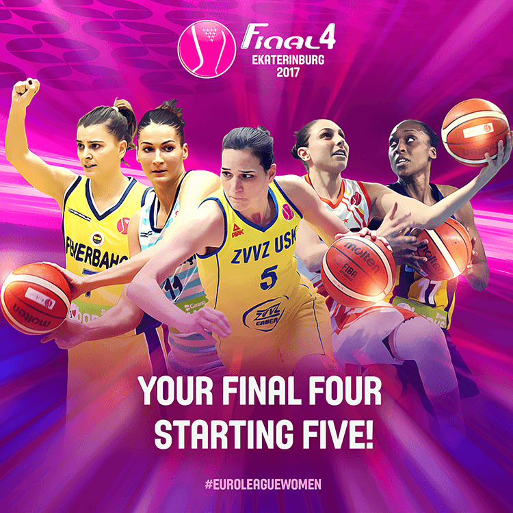 EuroLeague women social media design | Final Four starting five