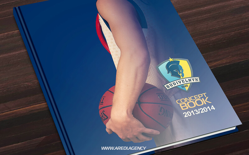Брендбук баскетбольного клуба Будивельник 2013-2014 | Brand book for the Budivelnyk 2013-2014
