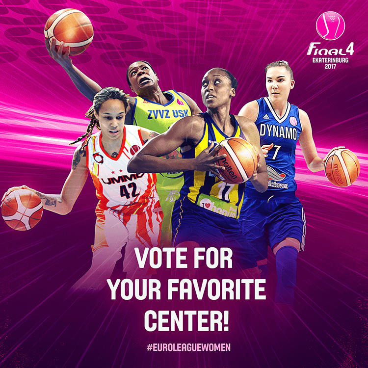 EuroLeague women social media design | Voting for best center