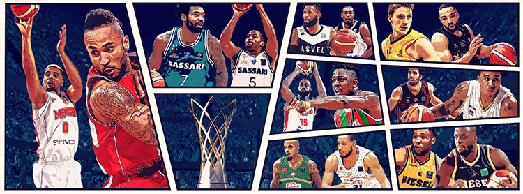 Basketball Champions League social media design | Header of BCL Quarter-finals