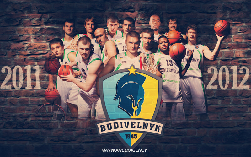 "Постер баскетбольного клуба ""Будивельник"" 2011-2012 