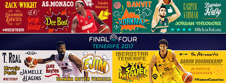 Basketball Champions League social media design | BCL Final Four header