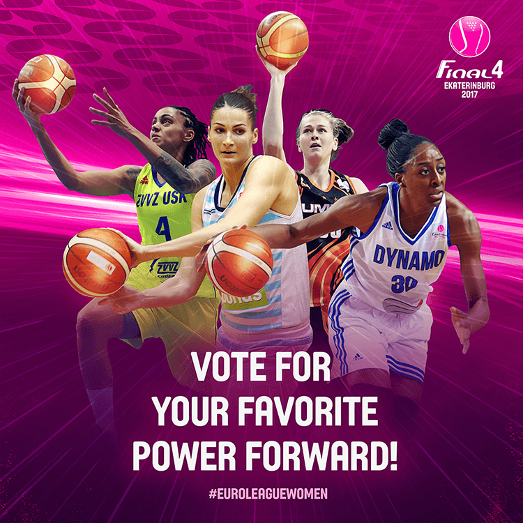 EuroLeague women social media design | Voting for best power forward