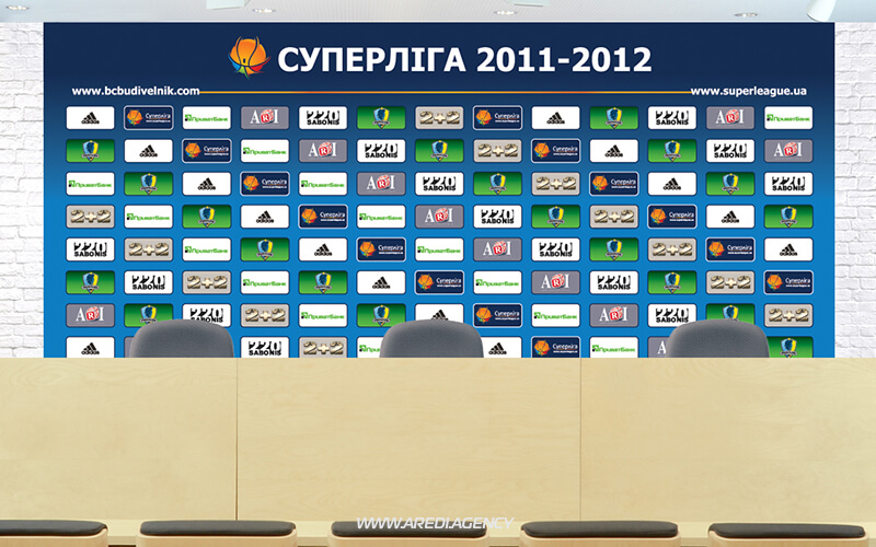 "Пресс-банер баскетбольного клуба ""Будивельник"" 2011-2012 