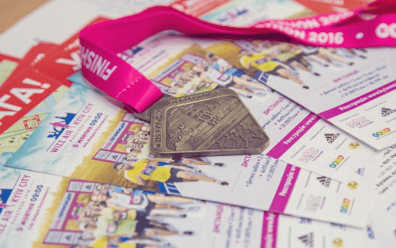Флаер Wizz Air Kyiv City Marathon 2016.